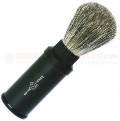 Edwin Jagger 81M536 Pure Badger Travel Shaving Brush, Black Aluminum Handle