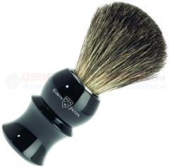 Edwin Jagger 89P16 Pure Badger Shaving Brush, Imitation Ebony Plastic Handle