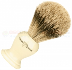 Edwin Jagger 9EJ367 English Shaving Brush, Super Badger, Imitation Ivory, Small