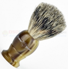 Edwin Jagger 9EJ872 English Shaving Brush, Best Badger, Imitation Light Horn, Small