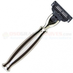 Edwin Jagger R35911 Mach 3 Razor (Nickel Plated Handle)
