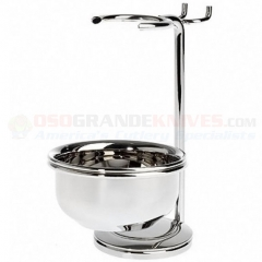 Edwin Jagger RHM8B Nickel Plated Metal Stand for Razor, Shaving Brush and Soap Bowl