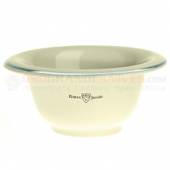 Edwin Jagger RN117 Ivory Porcelain Shaving Bowl with Silver Rim