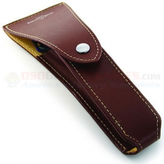 Edwin Jagger RT6 Travel Case for Razor, Brown Genuine Leather Case, No Razor