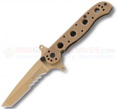 Columbia River CRKT M16-13DSFG Special Forces Tanto Folding Knife (3.5 Inch Desert Tan VEFF Combo Blade) Tan G10 Handle