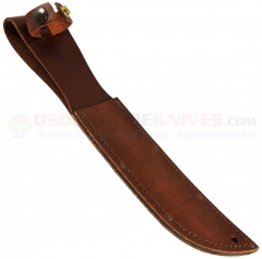 KA-BAR Full-size Unmarked Brown Leather Sheath for Fighting Knife (Fits most Knives w/ Blades up to 7 Inches) 1217I-1