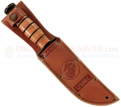 KA-BAR 1250S USMC Brown Leather Knife Sheath (Fits Small KA-BAR Fighting Knife w/ 5.25 Inch Blade)