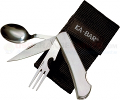 Kabar 1300 Hobo Fork, Knife, Spoon, Bottle Opener dinner set