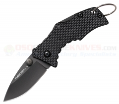 Cold Steel 27TDS Micro Recon 1 Spear Point Tri-Ad Lock Folding Knife (2 Inch AUS8A Black Plain Blade) G10 Handle
