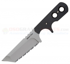 Cold Steel 49HTFS Mini Tac Tanto Neck Knife Fixed (3.75 Inch AUS8A Satin Serrated Blade) Faux G10 Handle + Secure-Ex Sheath 49HTFSZ