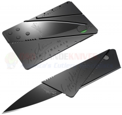 CardSharp 2 Credit Card Style Covert Folding Knife (2.6 Inch Black Teflon Coated Surgical Steel Blade) Black Plastic Body IS1B