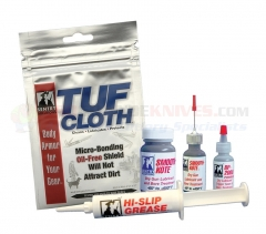Sentry Solutions 91100 Armorer's Kit. Contains: 1-Smooth Kote, 1-BP2000 Powder, 1-Hi-Slip Grease, 1-Tuf-Cloth