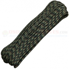 Woodland Camo 550 Paracord 100 ft. Hank (Type III Mil Spec 7 Strand Parachute Cord) Made in USA RG005H