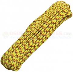Explode Yellow 550 Paracord 100 ft. Hank (Type III Mil Spec 7 Strand Parachute Cord) Made in USA RG007H