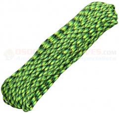 Gecko Green 550 Paracord 100 ft. Hank (Type III Mil Spec 7 Strand Parachute Cord) Made in USA RG010H