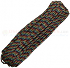 Dark Stripes 550 Paracord 100 ft. Hank (Type III Mil Spec 7 Strand Parachute Cord) Made in USA RG012H