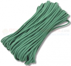 Green 550 Paracord 100 ft. Hank (Type III Mil Spec 7 Strand Parachute Cord) Made in USA RG016H