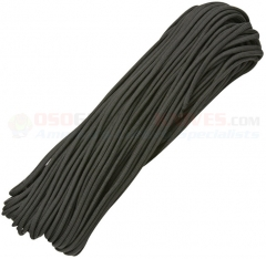 Black 550 Paracord 100 ft. Hank (Type III Mil Spec 7 Strand Parachute Cord) Made in USA, RG101H