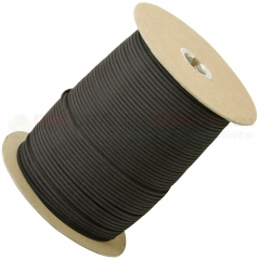 Black 550 Paracord 1000 ft. Spool (Type III Mil Spec 7 Strand Parachute Cord) Made in USA RG101S