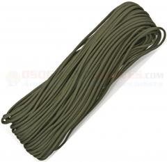 OD Green 550 Paracord 100 ft. Hank (Type III Mil Spec 7 Strand Parachute Cord) Made in USA RG102H