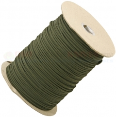 OD Green 550 Paracord 1000 ft. Spool (Type III Mil Spec 7 Strand Parachute Cord) Made in USA RG102S