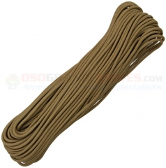 Coyote Brown 550 Paracord 100 ft. Hank (Type III Mil Spec 7 Strand Parachute Cord) Made in USA RG104H