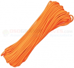 Neon Orange 550 Paracord 100 ft. Hank (Type III Mil Spec 7 Strand Parachute Cord) Made in USA RG105H