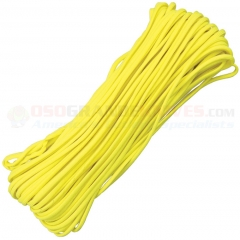 Yellow 550 Paracord 100 ft. Hank (Type III Mil Spec 7 Strand Parachute Cord) Made in USA RG108H