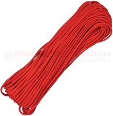 Red 550 Paracord 100 ft. Hank (Type III Mil Spec 7 Strand Parachute Cord) Made in USA RG1011H