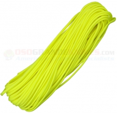 Neon Yellow 550 Paracord 100 ft. Hank (Type III Mil Spec 7 Strand Parachute Cord) Made in USA RG1012H