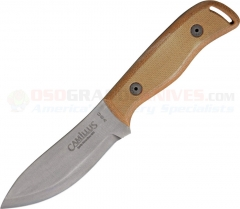 Camillus 19095 Bushcrafter Survival Fixed Blade, 1095HC, Micarta Handle, Leather Sheath