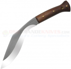 Condor 255-10HC Heavy Duty Kukri Knife, 10 Inch Carbon Steel Blade, Hardwood Handles, Leather Sheath
