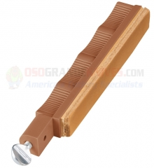 Lansky HSTROP Leather Stropping Hone, Brown Holder