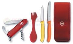 Victorinox Swiss Army 57609 Waiter Multi-Tool Camping Set, Spork, Paring and Utility Knives