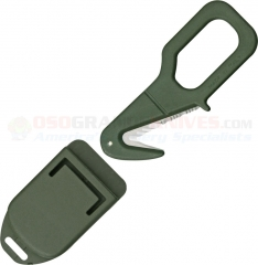 FOX Knives 640OD Rescue Emergency Tool, Serrated Blade, OD Green Kydex Handle and Sheath