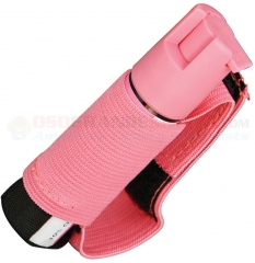 Saber Red Runner / Jogger Pepper Spray with Adjustable Hand Strap (Police Strength .75 oz. Pink) SA15123