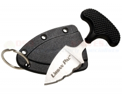 Cold Steel 43LS Urban Pal T-Handle Push Dagger Knife (1.50 Inch AUS 8A Satin Serrated Blade) Kraton Handle Secure-Ex Sheath