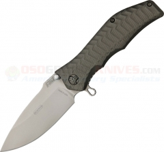 HTM Knives Darrel Ralph DDR Gunhammer Torpedo Assisted, Gray PlainEdge, Gray Aluminum Handles
