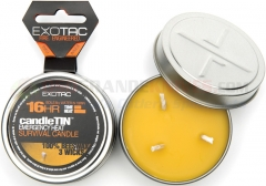 Exotac candleTIN 16hr Emergency Heat Survival Candle ET2120HOT