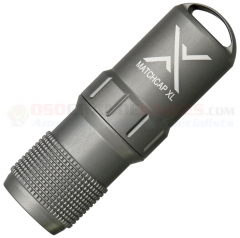 Exotac MATCHCAP XL Survival Match Case Waterproof Capsule, Gun Metal