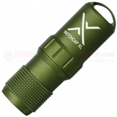 Exotac MATCHCAP XL Survival Match Case Waterproof Capsule, OD Green