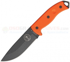 ESEE Knives Model 5 Knife, Black Blade, Orange G10 Handles, Black Sheath