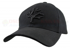 Boker Cap Blackout w/ Embroidered Boker Tree Logo (Black) 09BO101