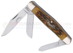 Boker Cinch Stockman Pocket Knife (4 Inches Closed) Jigged Brown Bone Handles 11CI0726