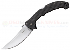 Cold Steel Talwar XL Tri-Ad Lock Folding Knife (5.5 Inch AUS8A Satin Serrated Blade) G-10 Handle 21TTXLS