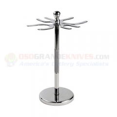 4 Prong Deluxe Stainless Steel Shave Stand (Holds two Safety Razors and two Shaving Brushes) 4PDSS