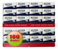 Astra Stainless DE Blades (20  x 5) 100 ct