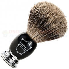 Parker Pure Badger Shave Brush, Black/Chrome Handle, BCPB