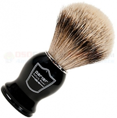 Parker Silver Tip Badger Shave Brush, Black Handle, BHST
