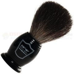 Parker Black Badger Shave Brush, Black Resin Handle, BKBB